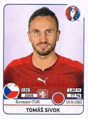 Panini Euro 2016 Stickers - N° 392 - Tomas SIVOK (République Tchèque)