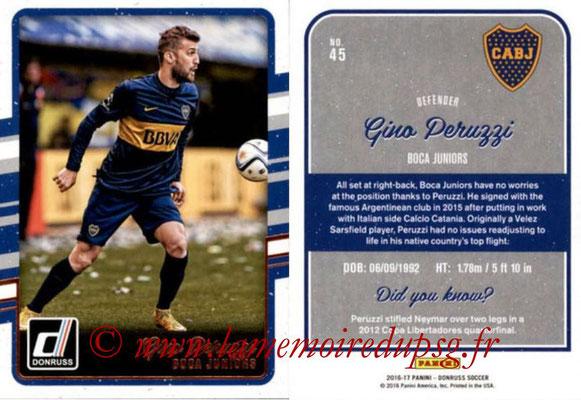 2016 - Panini Donruss Cards - N° 045 - Gino PERUZZI (CA Boca Juniors)