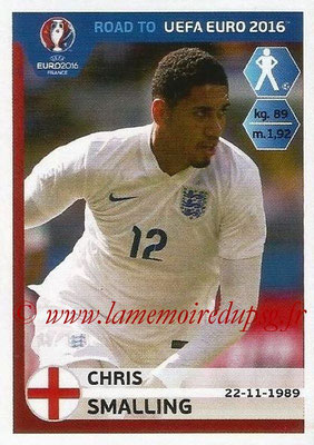Panini Road to Euro 2016 Stickers - N° 068 - Chris SMALLING (Angleterre)
