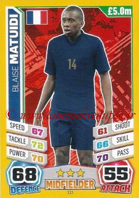 N° 111 - Blaise MATUIDI (2011-??, PSG > 2014, France)