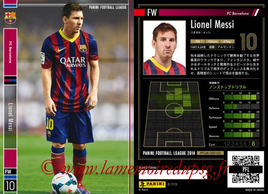 Panini Football League 2014 - PFL06 - N° 035 - Lionel MESSI (FC Barcelone)