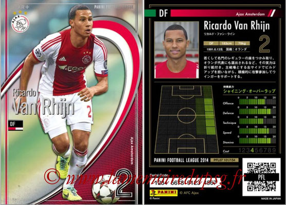 Panini Football League 2014 - PFL07 - N° 101 - Ricardo VAN RHIJN (Ajax Amsterdam) (Star +)