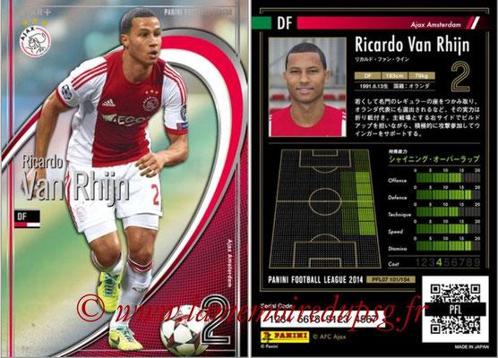 Panini Football League 2014 - PFL07 - N° 101 - Ricardo VAN RHIJN (Ajax Amsterdam) (Star +)