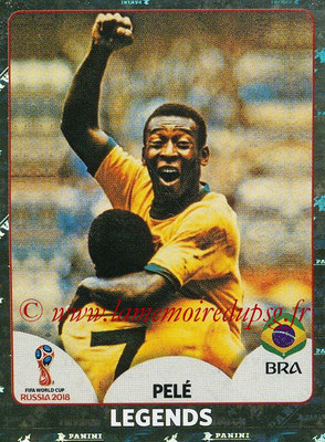 2018 - Panini FIFA World Cup Russia Stickers - N° 680 - PELE (Bresil) (FIFA World Cup Legends)