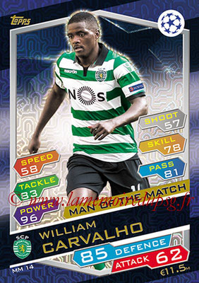 2016-17 - Topps UEFA Champions League Match Attax - N° MM14 - William CARVALHO (Sporting SP) (Man of the Match)