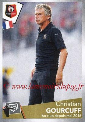 2017-18 - Panini Ligue 1 Stickers - N° 412 - Christian GOURCUFF (Entraîneur Rennes)