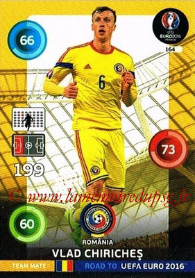 Panini Road to Euro 2016 Cards - N° 164 - Vlad CHIRICHES ( Roumanie)