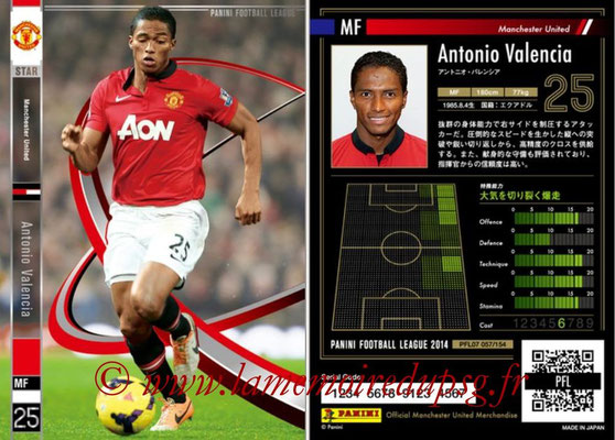 Panini Football League 2014 - PFL07 - N° 057 - Antonio VALENCIA (Manchester United) (Star)