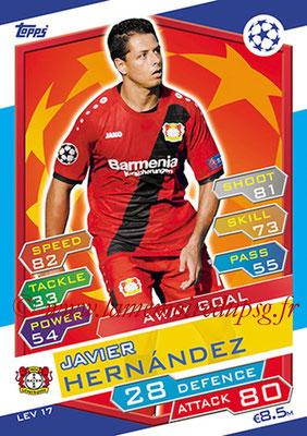 2016-17 - Topps UEFA Champions League Match Attax - N° LEV17 - Javier HERNANDEZ (Bayer 04 Leverkusen) (Away Goal)