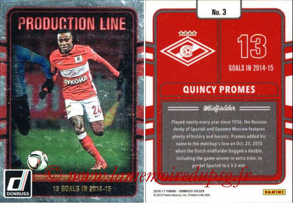 2016 - Panini Donruss Cards - N° PL03 - Quincy PROMES (FC Spartak Moscou) (Production Line)