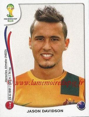 2014 - Panini FIFA World Cup Brazil Stickers - N° 169 - Jason DAVIDSON (Australie)