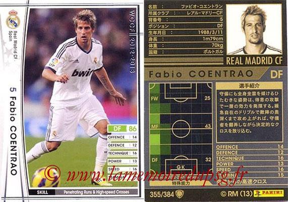 2012-13 - WCCF - N° 355 - Fabio COENTRAO (Real Madrid CF)