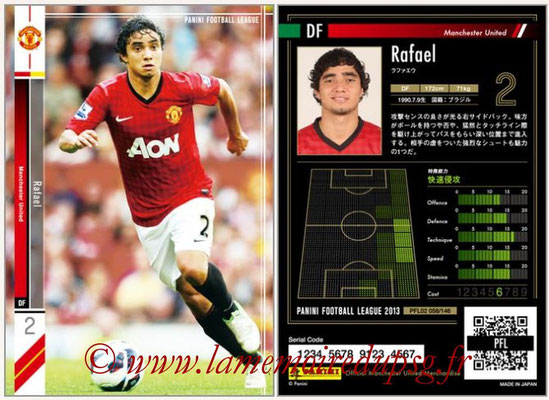 Panini Football League 2013 - PFL02 - N° 058 - Rafael ( Manchester United  )