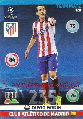 2014-15 - Adrenalyn XL champions League N° 056 - Diego GODIN (Atletico Madrid)