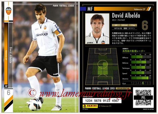 Panini Football League 2013 - PFL04 - N° 052 - David ALBELDA (FC Valence)
