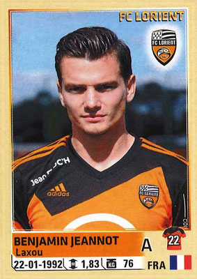2014-15 - Panini Ligue 1 Stickers - N° 188 - Benjamin JEANNOT (FC Lorient)