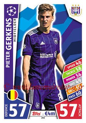 2017-18 - Topps UEFA Champions League Match Attax - N° 282 - Pieter GERKENS (RCS Anderlecht)