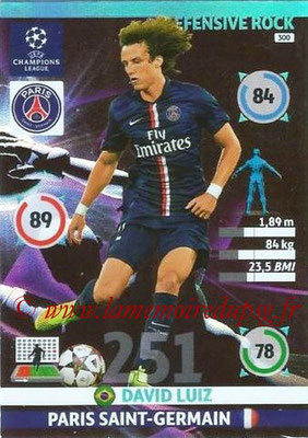 2014-15 - Adrenalyn XL champions League N° 300 - David LUIZ (Paris Saint-German) (Defensive rock)