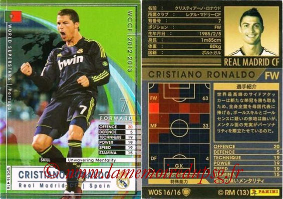 2012-13 - WCCF - N° WOS16 - Cristiano RONALDO (Real Madrid CF) (World Superstar)