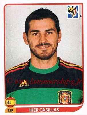 2010 - Panini FIFA World Cup South Africa Stickers - N° 564 - Iker CASILLAS (Espagne)
