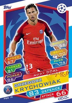N° PSG12 - Grzegorz KRYCHOWIAK (Away Goal)