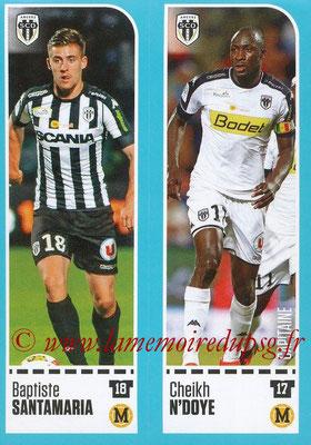 2016-17 - Panini Ligue 1 Stickers - N° 014 + 015 - Baptiste SANTAMARIA + Cheikh N'DOYE (Angers)