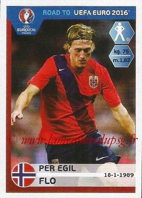 Panini Road to Euro 2016 Stickers - N° 180 - Per Egil FLO (Norvège)