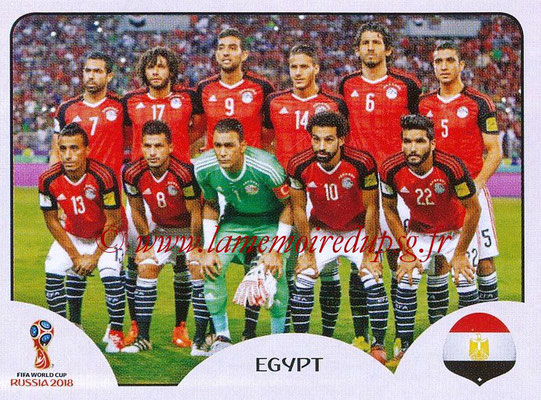 2018 - Panini FIFA World Cup Russia Stickers - N° 073 - Equipe Egypte