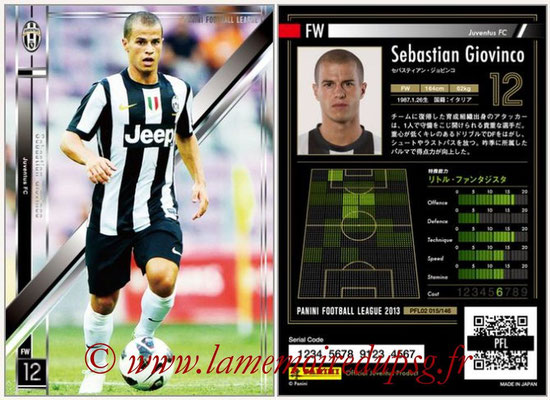 Panini Football League 2013 - PFL02 - N° 015 - Sebastian Giovinco ( Juventus FC )