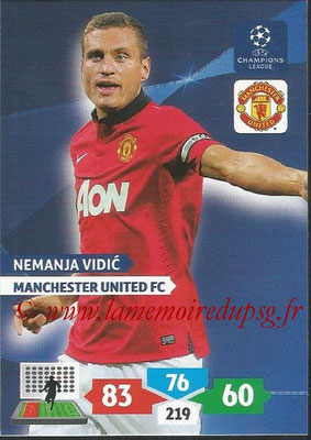 2013-14 - Adrenalyn XL champions League N° 174 - Nemanja VIDIC (Manchester United FC)