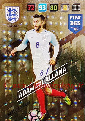 2017-18 - Panini FIFA 365 Cards - N° LE-AL - Adam LALLANA (Angleterre) (Limited Edition)
