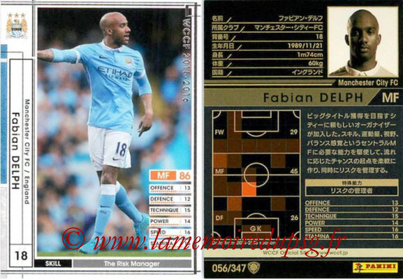 2015-16 - Panini WCCF - N° 056 - Fabian DELPH (Manchester City FC)
