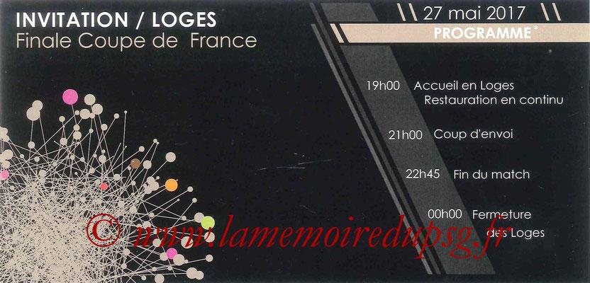 Invitation Loges  Angers-PSG  2016-17