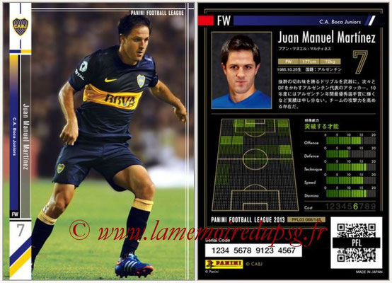 Panini Football League 2013 - PFL03 - N° 088 - Juan Manuel Martinez ( (Boca Juniors)