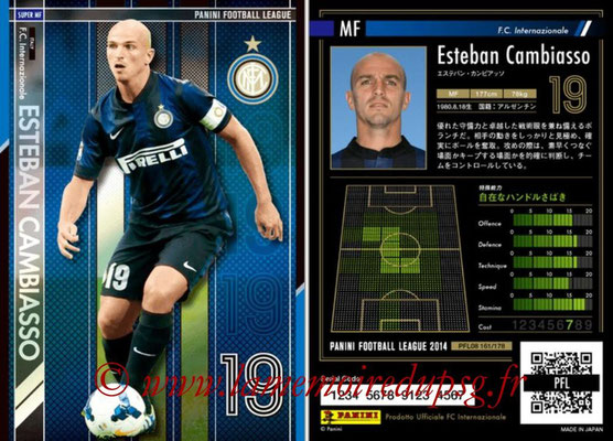 Panini Football League 2014 - PFL08 - N° 161 - Esteban CAMBIASSO (Inter) (Super MF)