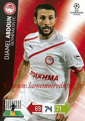 2012-13 - Adrenalyn XL champions League N° 190 - Djamel ABDOUN (Olympiacos FC)