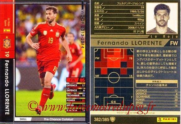 2013-14 - WCCF - N° 382 - Fernando LLORENTE (Espagne)