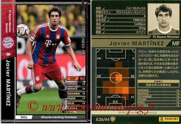 2013-14 - WCCF - N° A26 - Javier MARTINEZ (FC Bayern Munich)