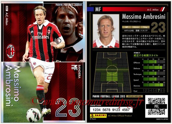 Panini Football League 2013 - PFL03 - N° 140 - Massimo Ambrosini (Milan AC) (Bandiera)