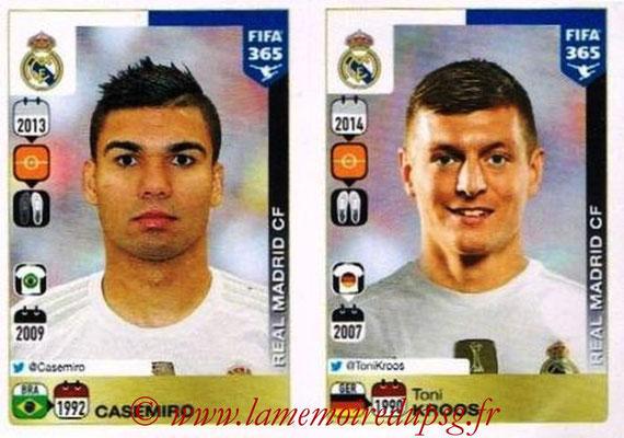 2015-16 - Panini FIFA 365 Stickers - N° 393-394 - CASEMIRO + Toni KROOS (Real Madrid CF)