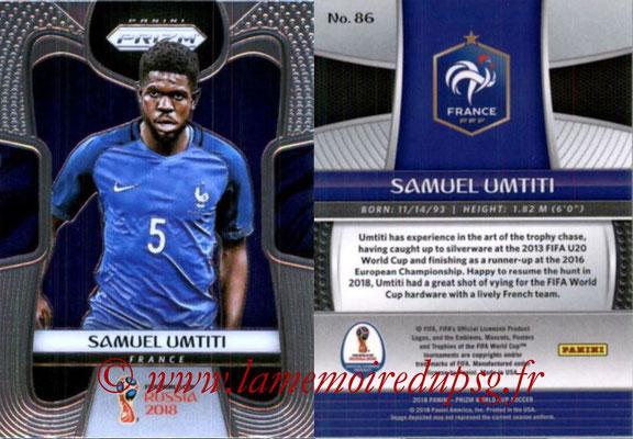 2018 - Panini Prizm FIFA World Cup Russia - N° 086 - Samuel UMTITI (France)