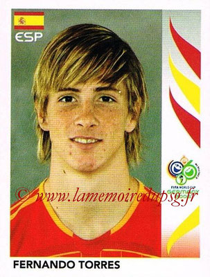 2006 - Panini FIFA World Cup Germany Stickers - N° 548 - Fernando TORRES (Espagne)