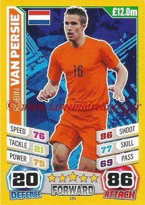 Topps Match Attax England 2014 - N° 181 - Robin VAN PERSIE (Pays-Bas)