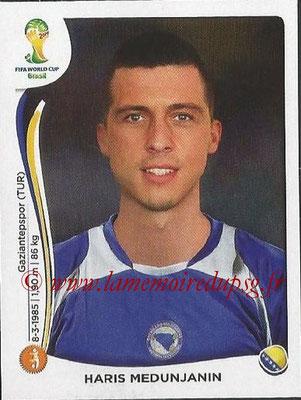 2014 - Panini FIFA World Cup Brazil Stickers - N° 442 - Haris MEDUNJANIN (Bosnie Herzegovine)