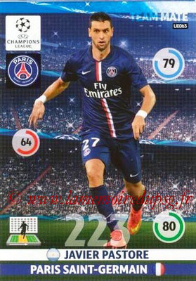 2014-15 - Adrenalyn XL champions League Update edition N° UE063 - Javier PASTORE (Paris Saint-Germain)