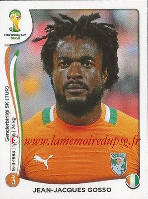 2014 - Panini FIFA World Cup Brazil Stickers - N° 233 - Jean-Jacques GOSSO (Côte d'Ivoire)