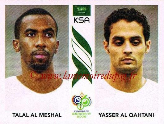 2006 - Panini FIFA World Cup Germany Stickers - N° 596 - Talal AL MESHAL + Yasser AL QAHTANI (Arabie Saoudite)