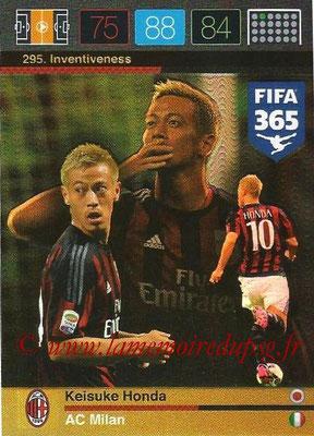 2015-16 - Panini Adrenalyn XL FIFA 365 - N° 295 - Keisuke HONDA (Milan AC) (Inventiveness)