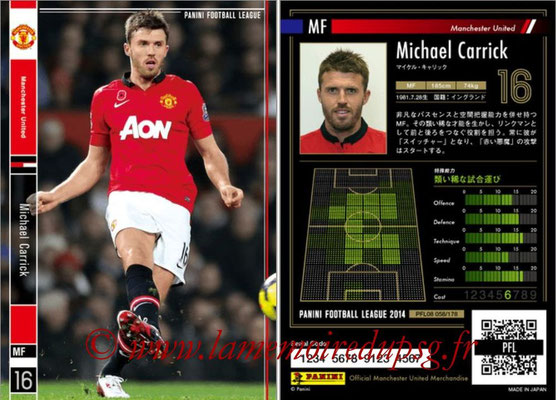 Panini Football League 2014 - PFL08 - N° 058 - Michael CARRICK (Manchester United)