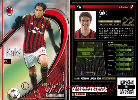 Panini Football League 2014 - PFL08 - N° 006 - KAKA (Milan AC) (Star +).